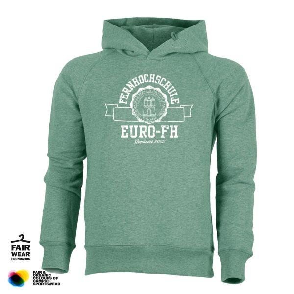Herren Organic Hooded Sweatshirt, heather green, gap