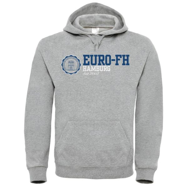 Classic Hooded Sweatshirt, heather grey, american