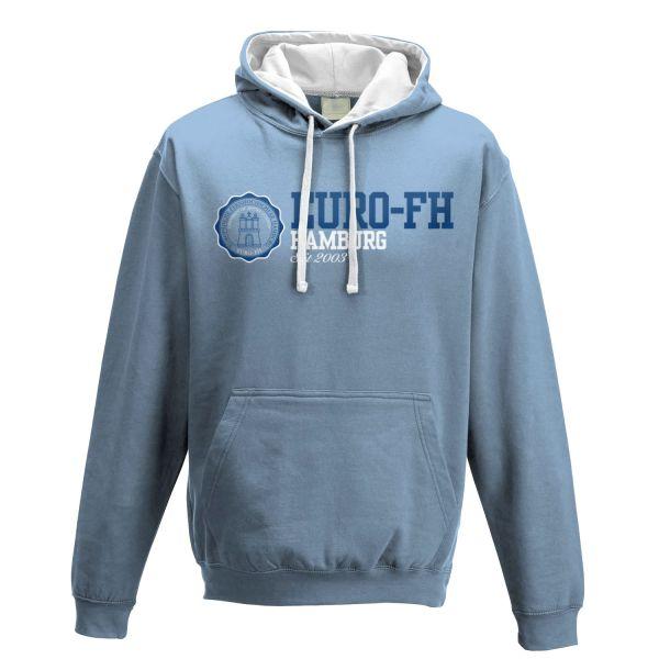 Unisex Contrast Hooded Sweatshirt, sky blue, american