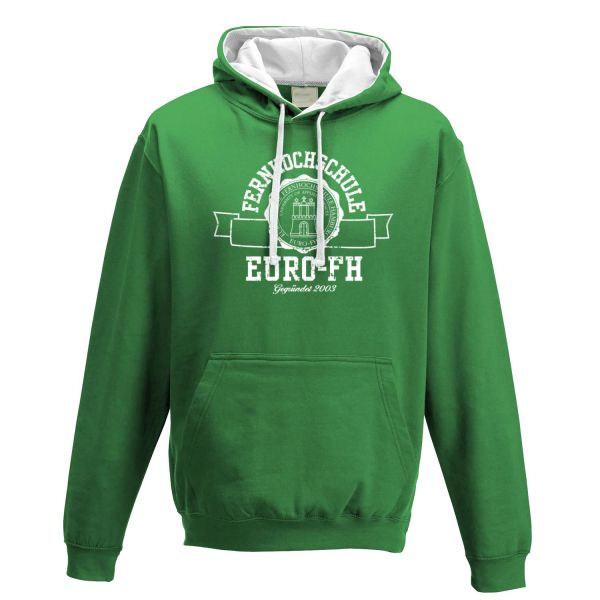Unisex Contrast Hooded Sweatshirt, green, gap