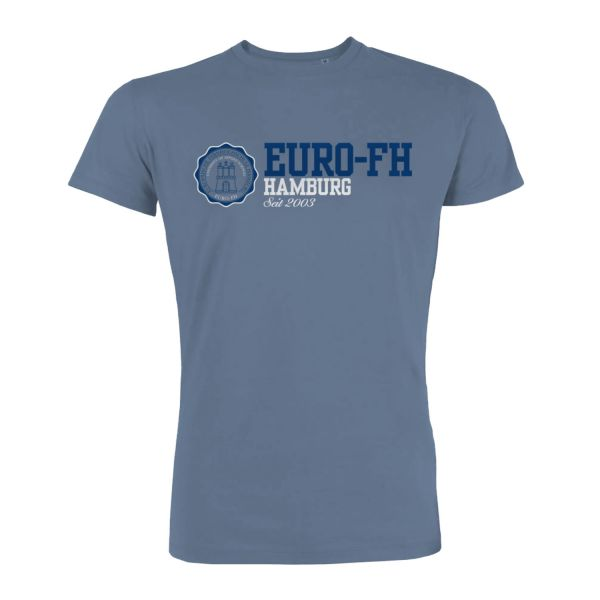 Herren T-Shirt, stone blue, american