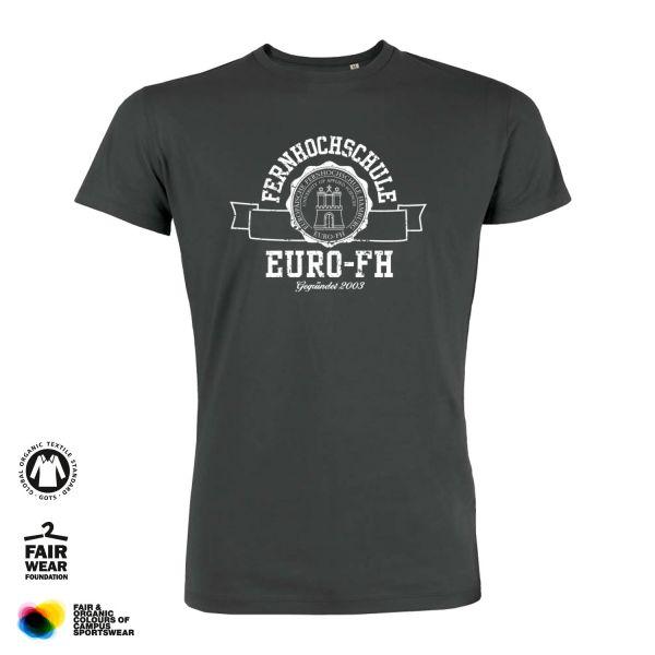 Herren Organic T-Shirt, anthracite, gap