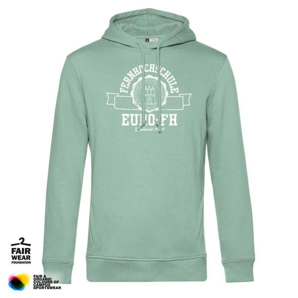 Herren Organic Hooded Sweatshirt, sage, gap